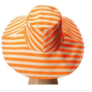 Anthropologie Neon Striped Canvas Sun Hat